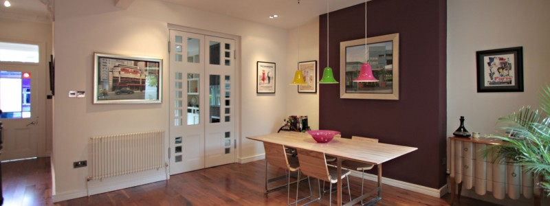 Dining room decorated by Heaton Decorators